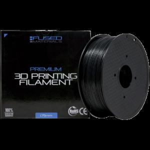 Fused Materials Black ASA 3D Printer Filament - 1kg Spool, 1.75mm, Dimensional Accuracy +/- 0.03 mm, (Black)