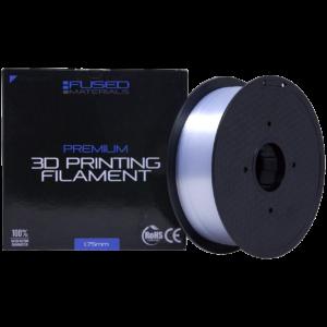 Fused Materials Transparent PC+ 3D Printer Filament - 1kg Spool, 1.75mm, Dimensional Accuracy +/- 0.03 mm, (Trans PC Plus)