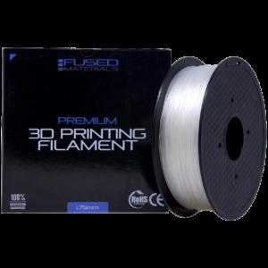 Fused Materials Transparent TPU 3D Printer Filament - 1kg Spool, 1.75mm, Dimensional Accuracy +/- 0.03 mm, (Trans)