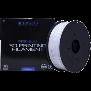 Fused Materials White ASA 3D Printer Filament - 1kg Spool, 1.75mm, Dimensional Accuracy +/- 0.03 mm, (White)