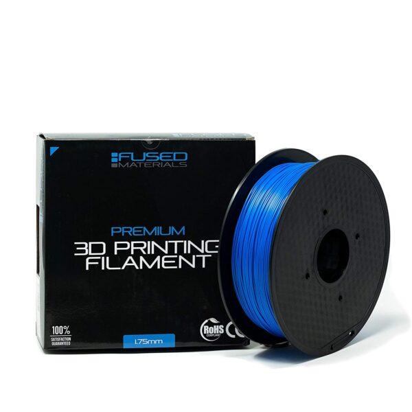 Fused Materials Blue PLA 3D Printer Filament - 1kg Spool, 1.75mm, Dimensional Accuracy 0.03 mm, (Blue) 1