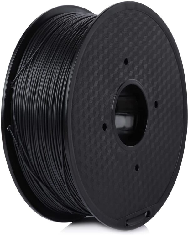 Fused Materials Fireproof Black ABS 3D Printer Filament - 1kg Spool, 1.75mm, Dimensional Accuracy 0.03 mm, (Black) 3